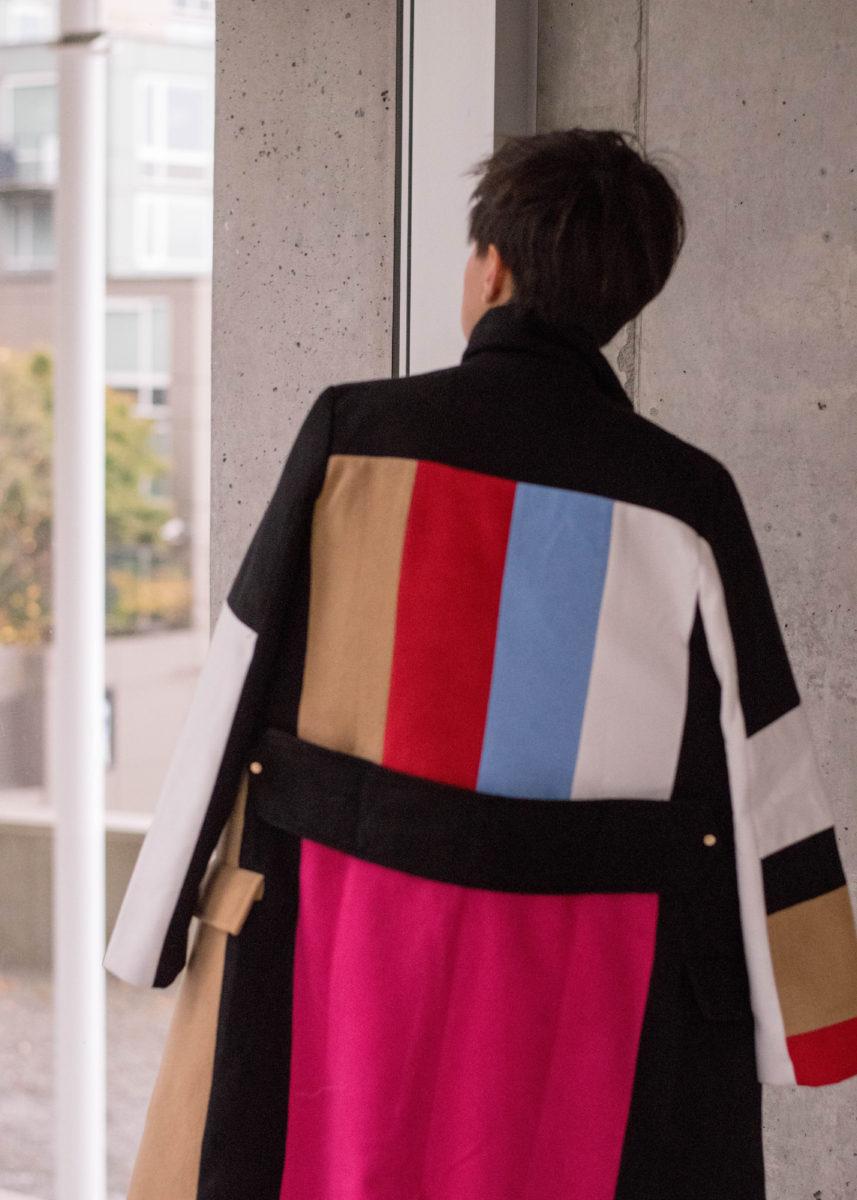 Celine Colorblock Coat Knockoff- BloggerNotBillionaire