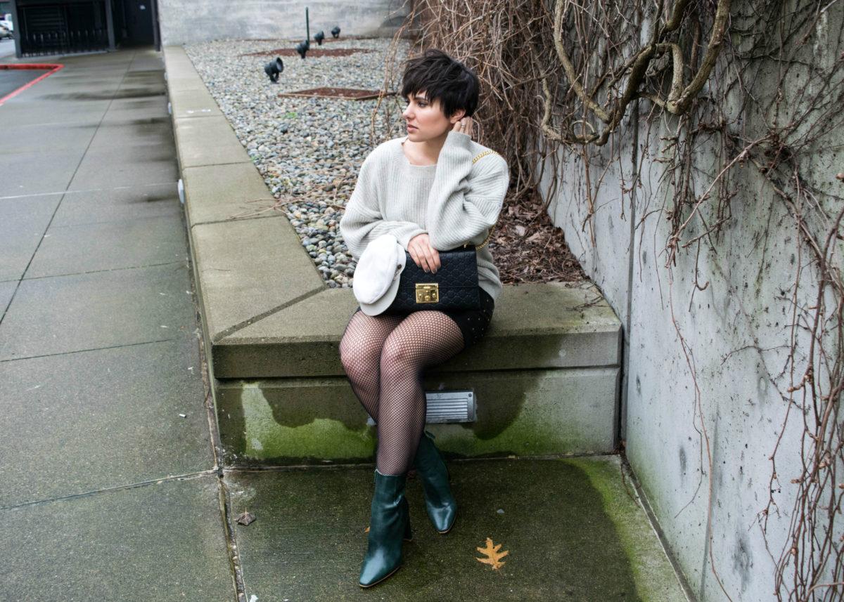 Oversized Fishnet Outfit- Gucci Padlock Signature Bag- BloggerNotBillionaire