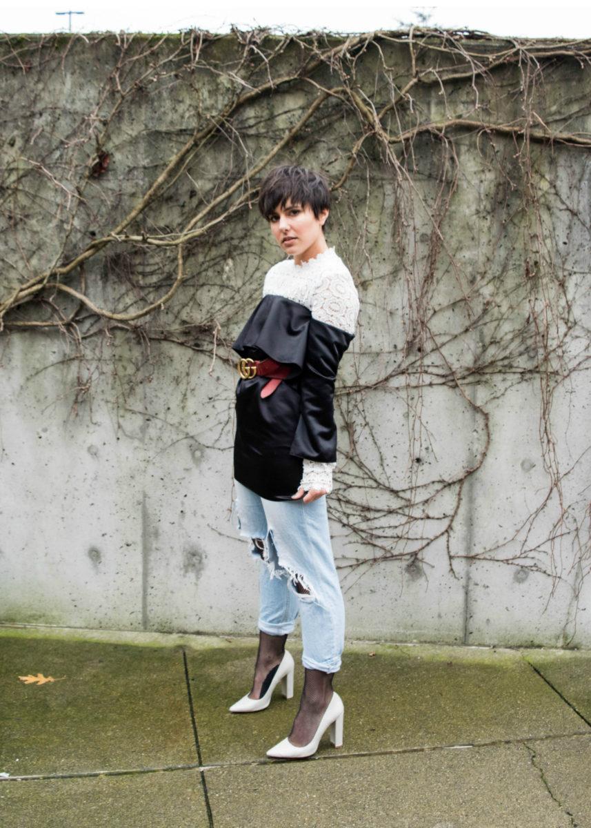 Oversized Fishnets Under Ripped Jeans- BloggerNotBillionaire