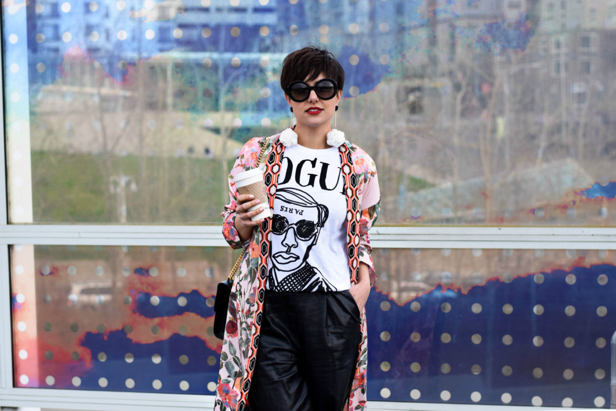 This Kimono is Ready For Spring & Vogue Tee: A Fashion Indulgent Outfit