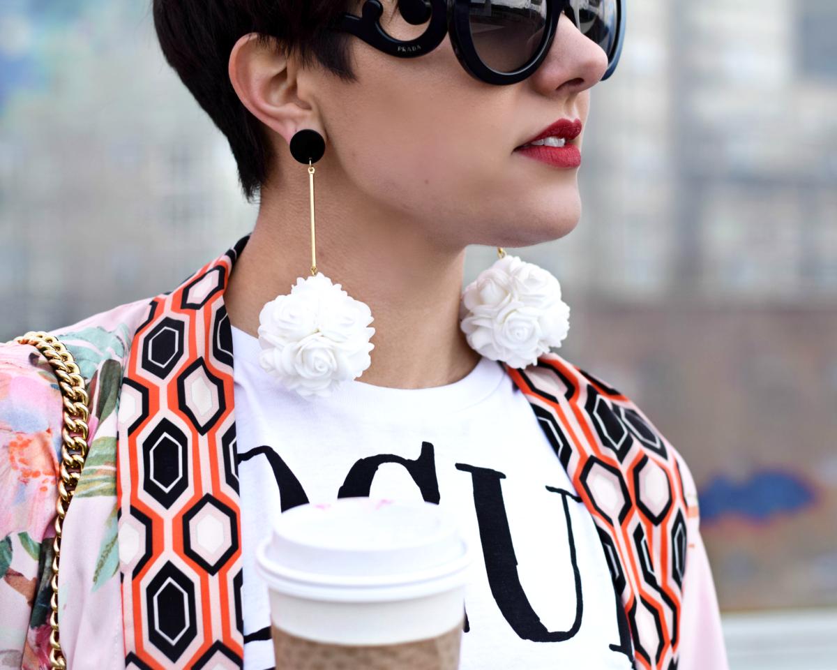Prada Baroque Sunglasses & Drop Earrings - BloggerNotBillionaire.com