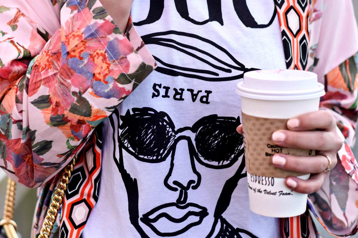 Egyboy Vogue T-shirt + Floral Kimono- BloggerNotBillionaire.com