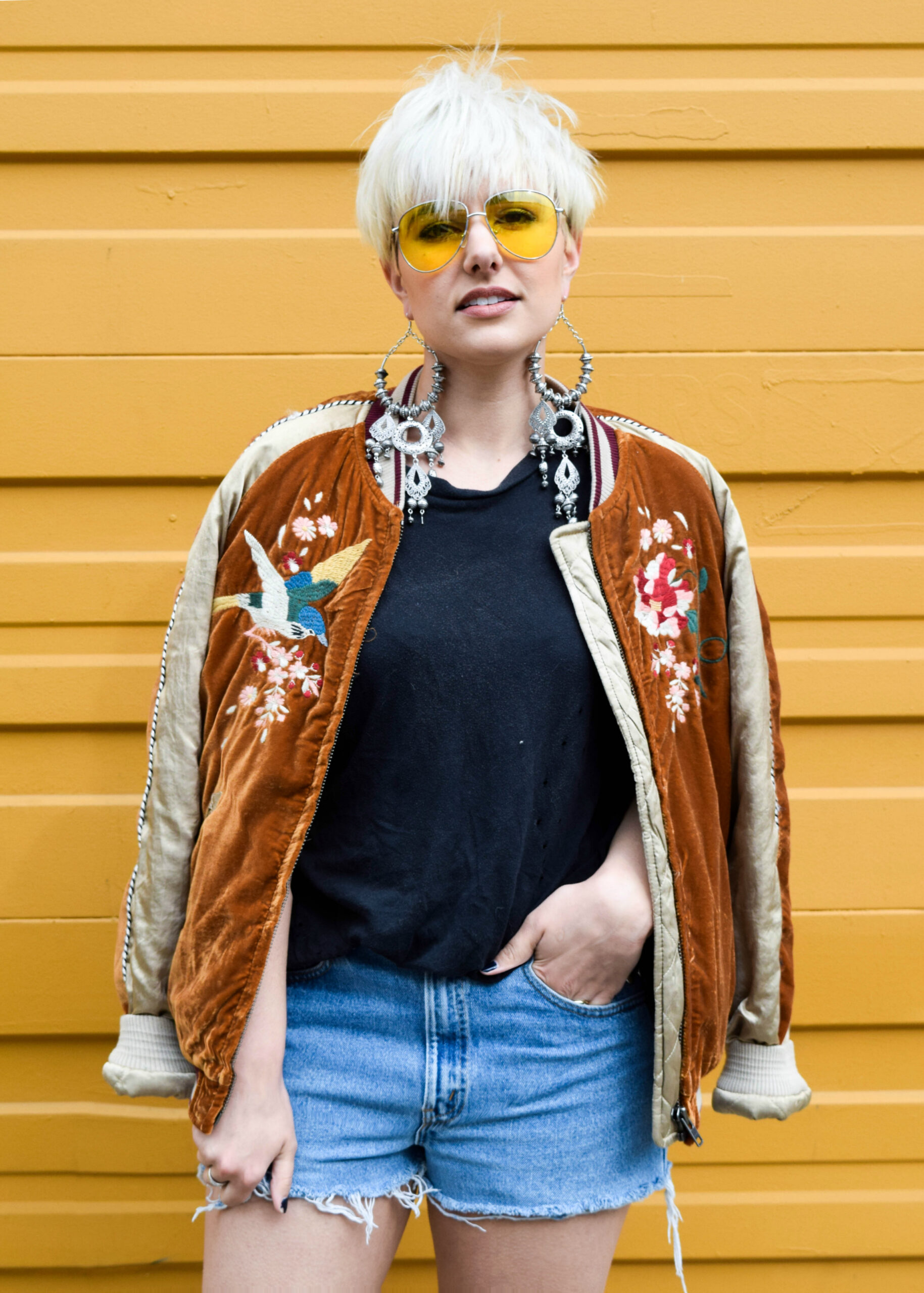 Festival Ready 2- 3 New Ways to Wear Your Bomber Jacket for 2017 - BloggerNotBillionaire.com