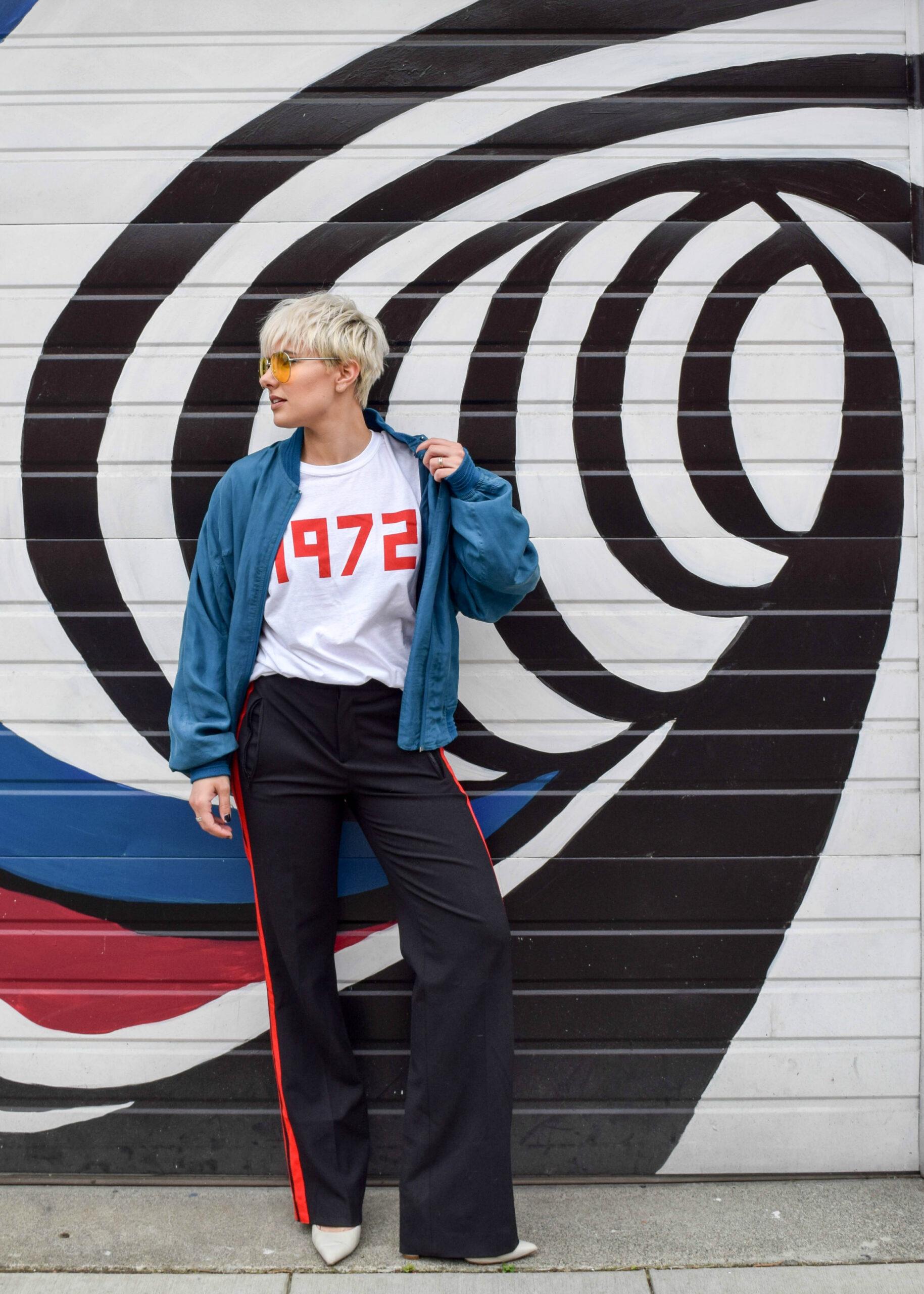 The Retro Look 3 - 3 New Ways to Wear Your Bomber Jacket for 2017 - BloggerNotBillionaire.com