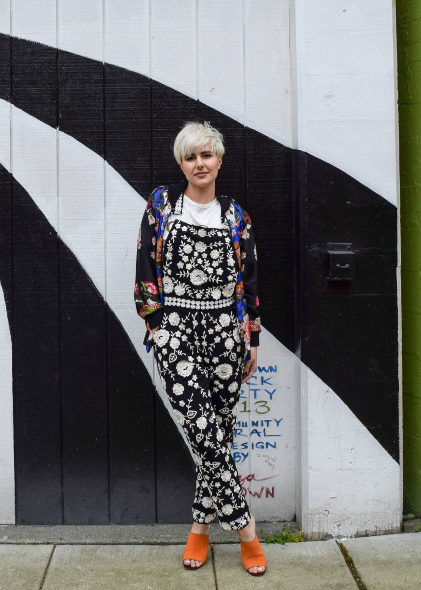 Print Mixing and Overalls- 3 New Ways to Wear Your Bomber Jacket for 2017 - BloggerNotBillionaire.com
