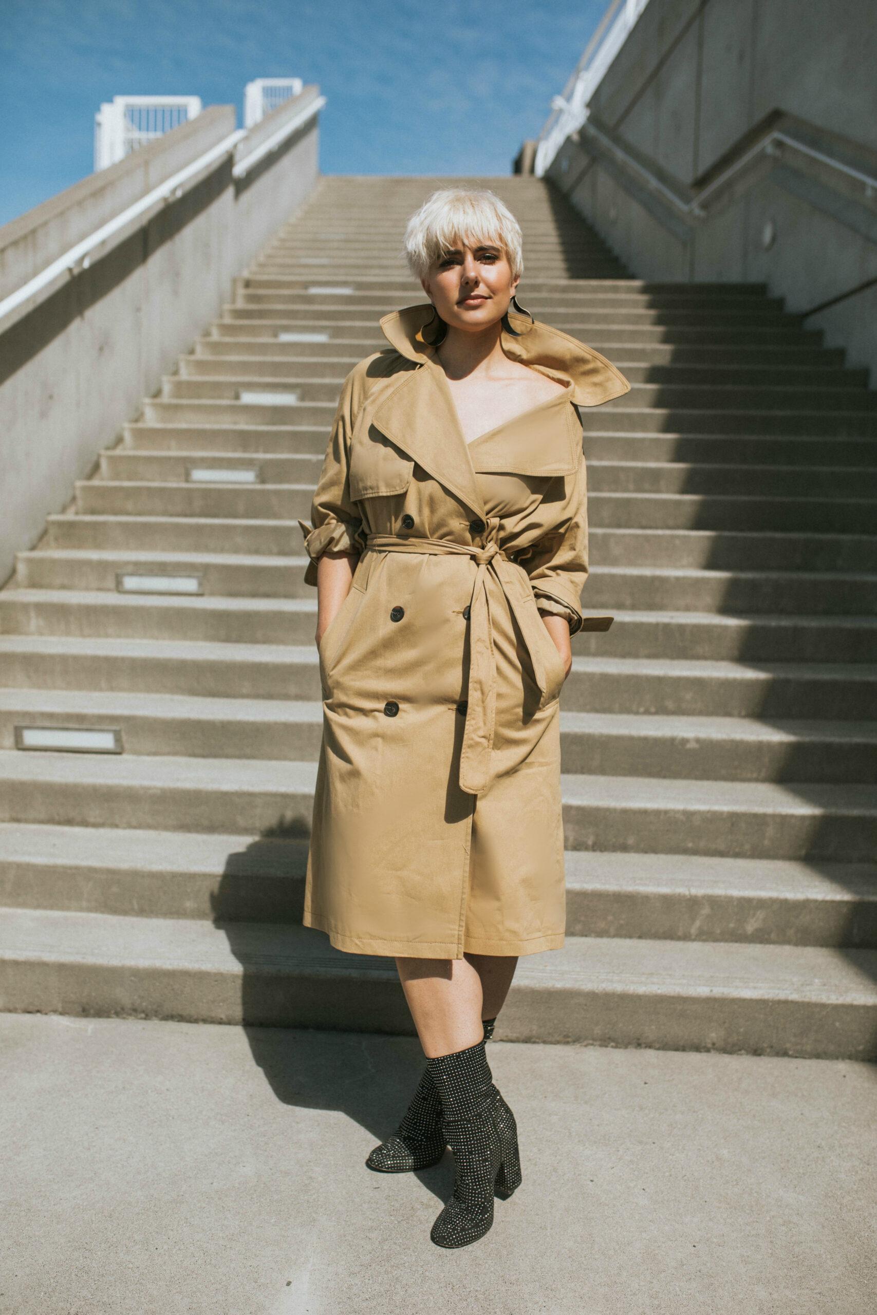 Recreating Priyanka Chopra's Met Gala 2017 Trench Coat Dress - BloggerNotBillionaire.com