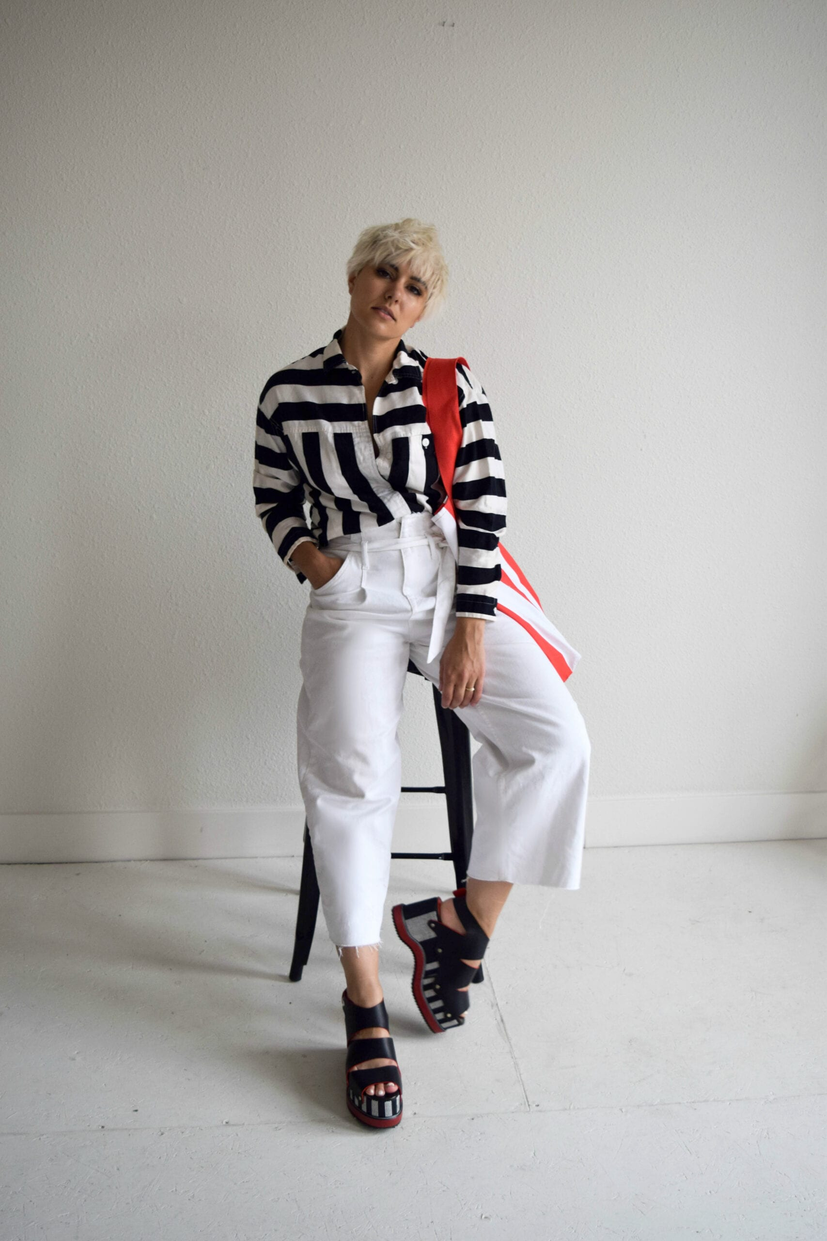Mixing Stripes: How to Wear the 90's trend as seen on Rebecca from BloggerNotBillionaire