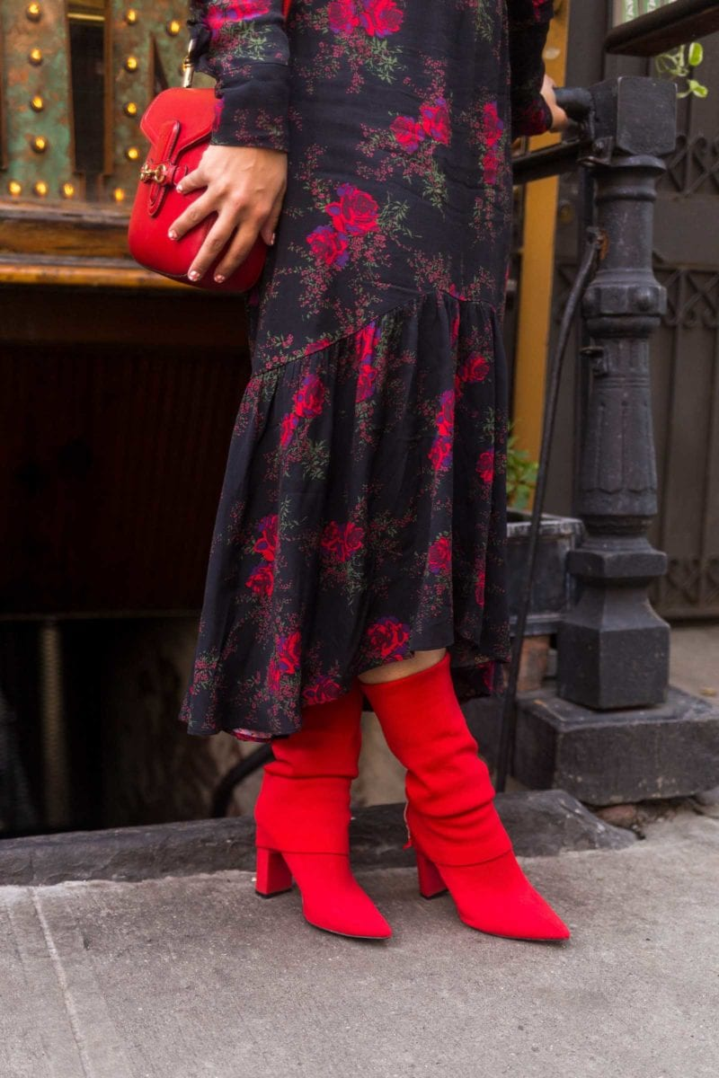 Red Sock Boots NYFW Street Style SS18