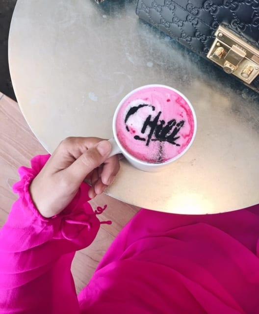 Chillhouse Beet Latte art NYFW