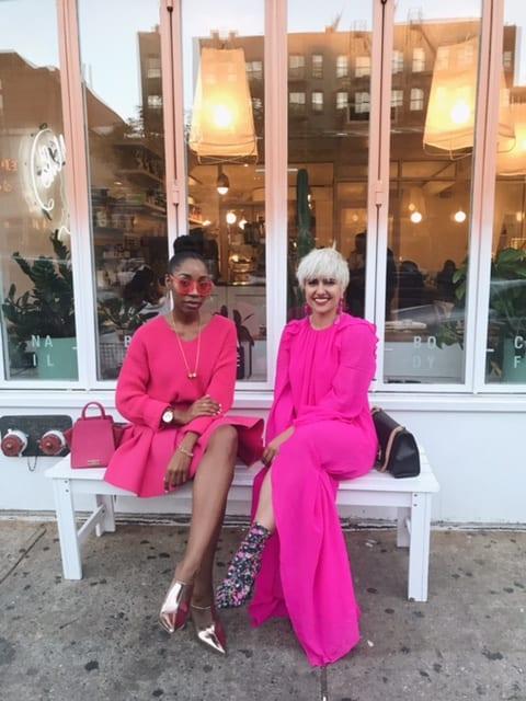 NYFW Bright Pink Street Style