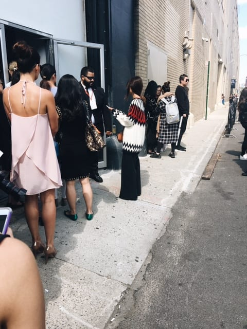 Waiting in Line outside Vivienne Tam NYFW SS18