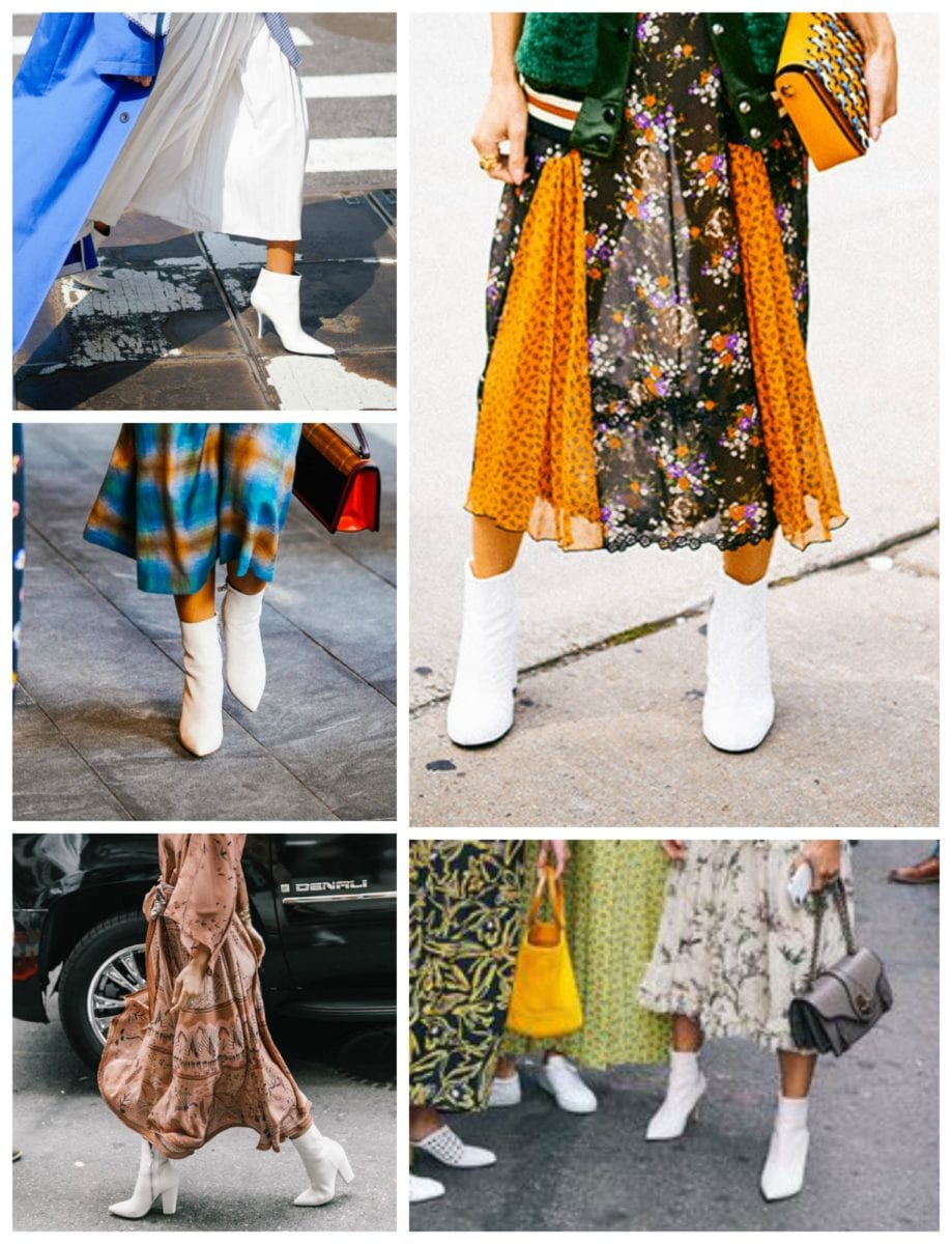 The Hottest Shoe of NYFW: the White Ankle Boot