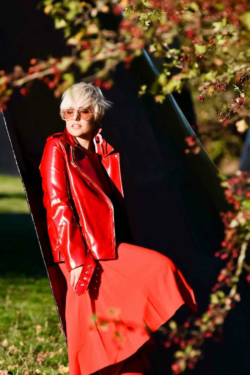 How to Wear a Monochromatic Red Outfit for the Holidays