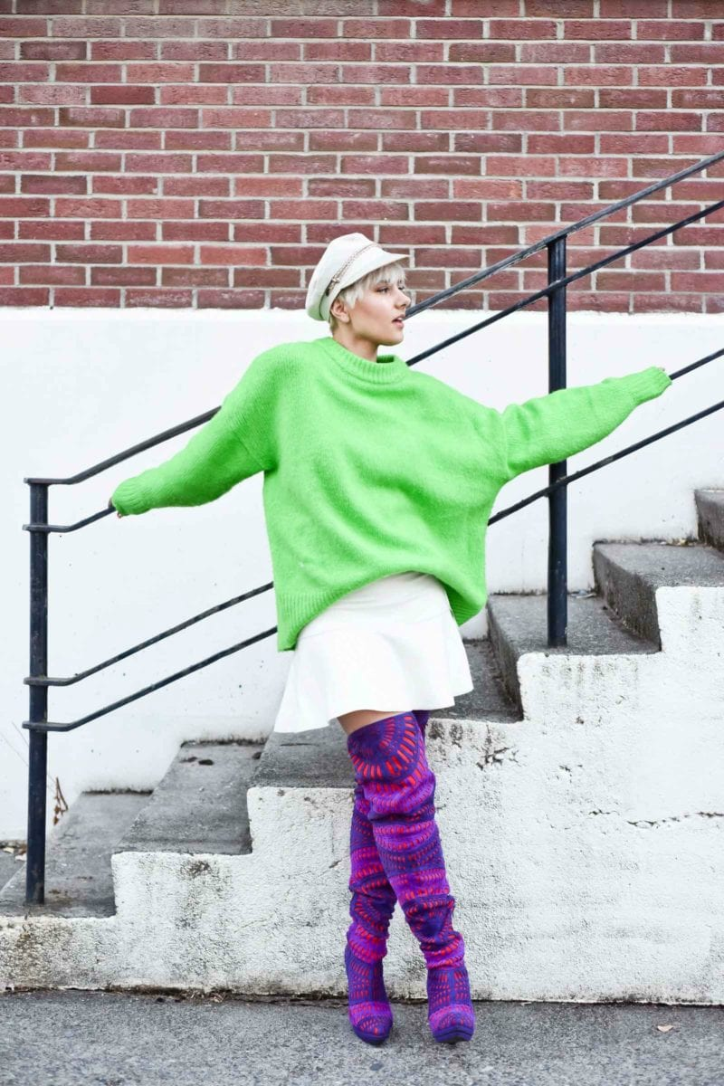 It's Easy Being Green: Embracing An Oversized Green Sweater for Winter Take