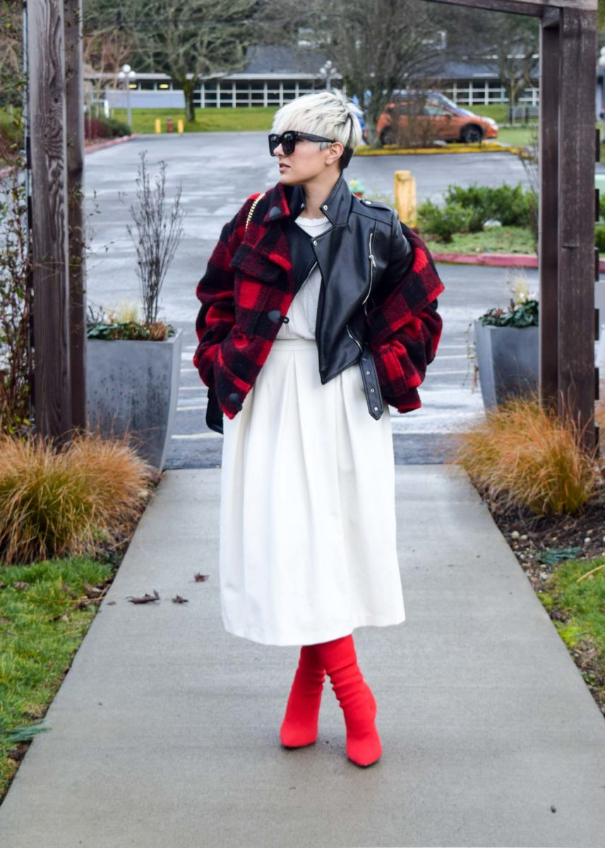 How to Layer Over Your Leather Jacket- BloggerNotBillionaire