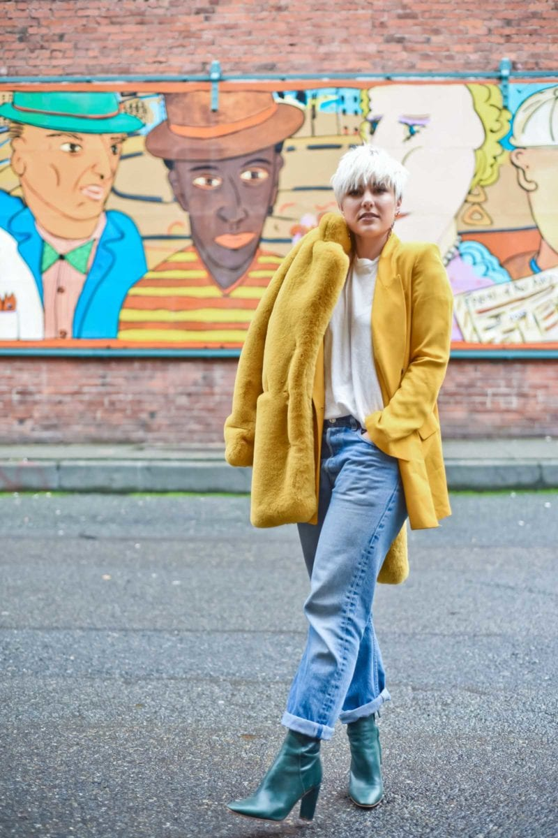 Yellow Blazer with Jeans