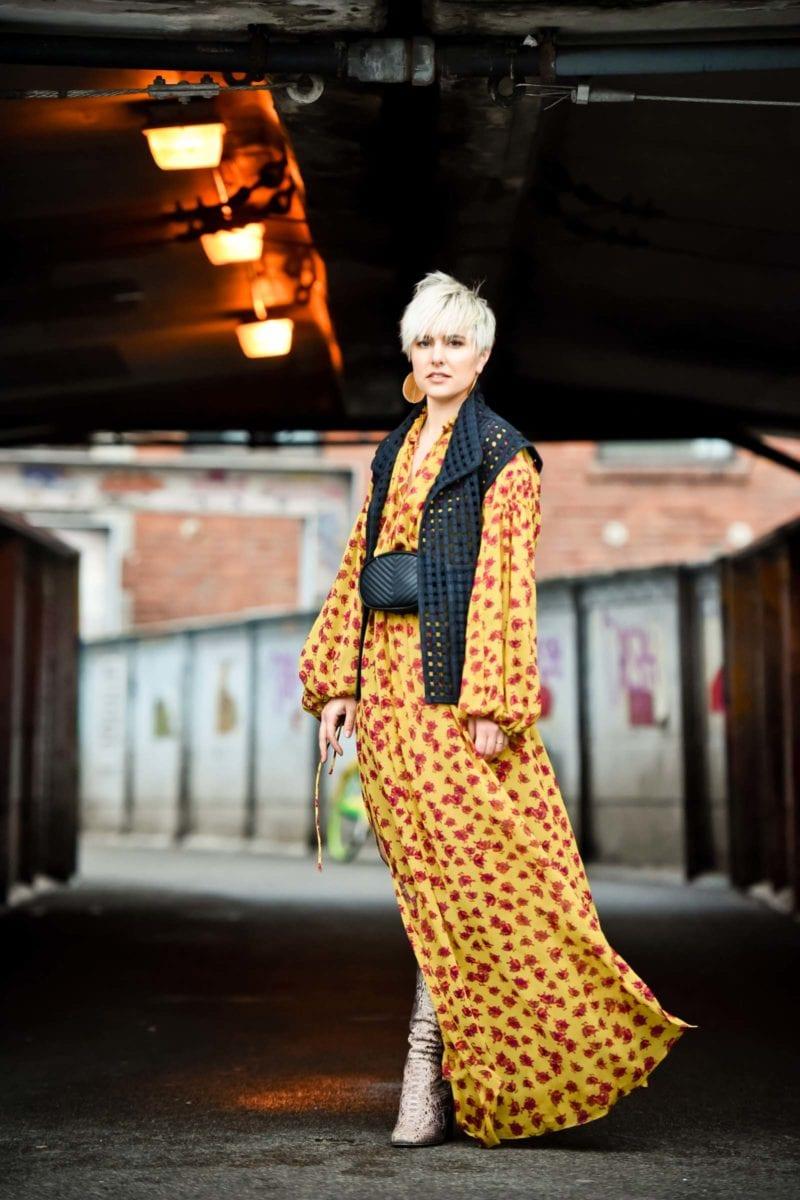 Mango Maxi Floral Dress & Isabel Marant Vest