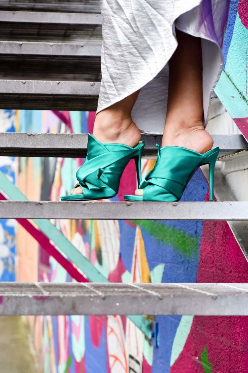 No21 Green Bow Heels