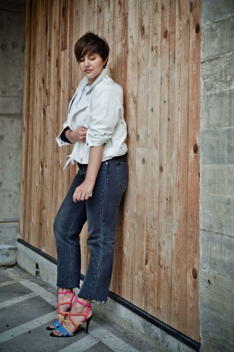 Zara Faux Leather White Jacket