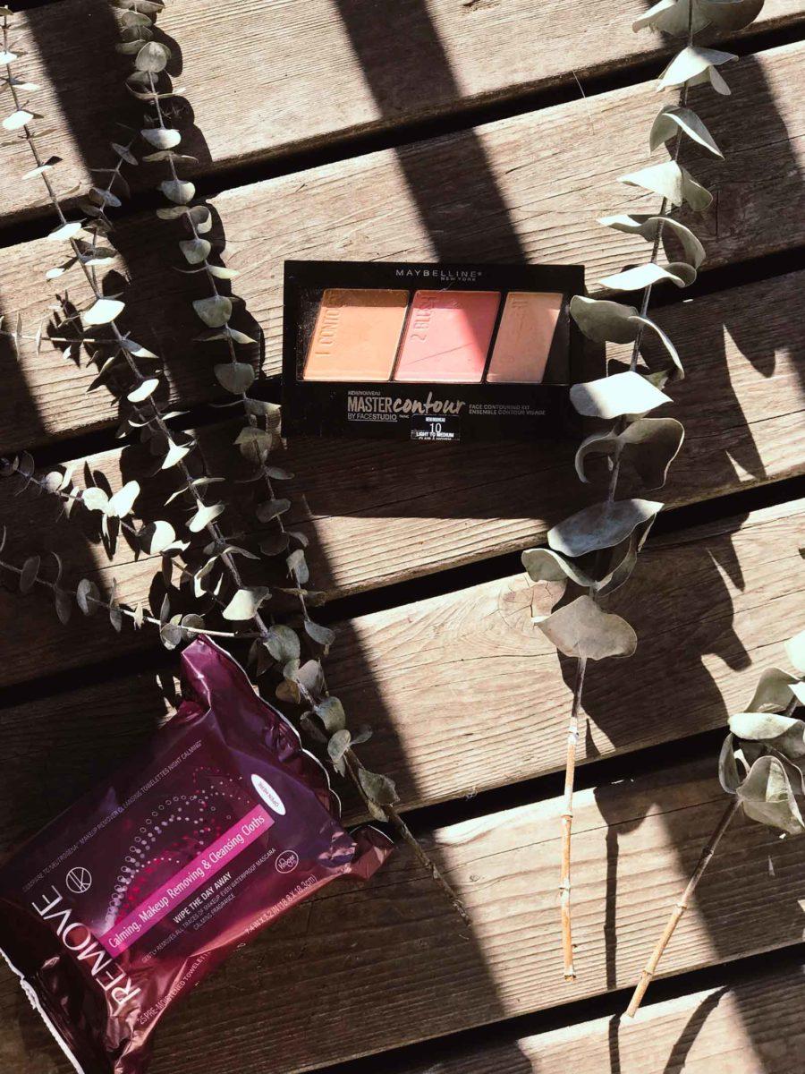 Maybelline Master Contour Palette & Kroger brand Makeup Removing Wipes
