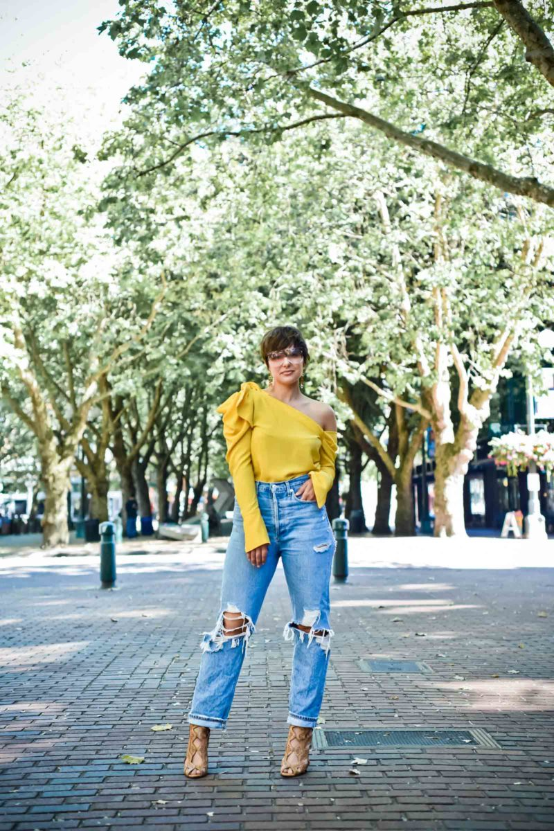 Agolde 90's Fit Jeans A Great Pair of Jeans for Pair Shaped Curves - BloggerNotBillionaire