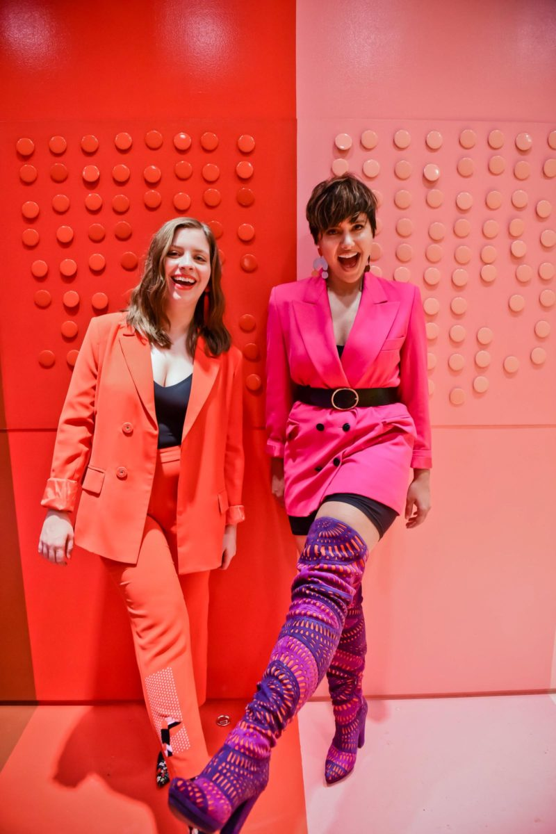 2 of NYFW's Hottest Trends: Pink & Red + Colorful Suiting