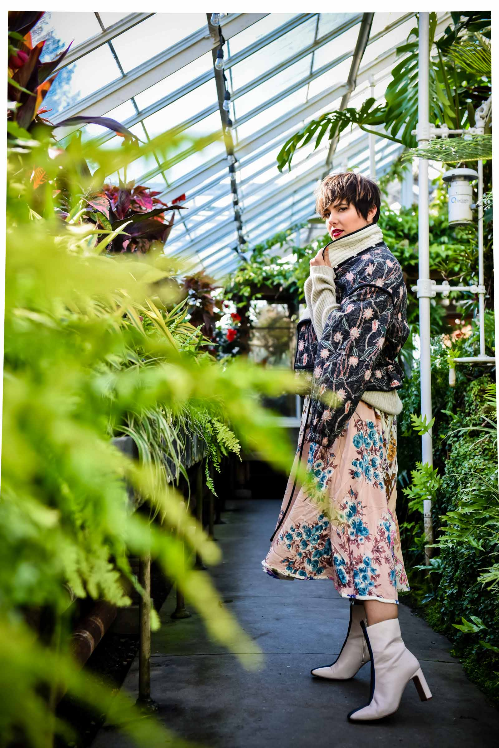 Next Level Winter Layers: Moody Florals -BloggerNotBillionaire.com