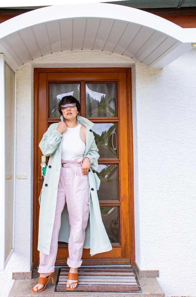 Isabel Marant Pink Paper Bag Trousersa
