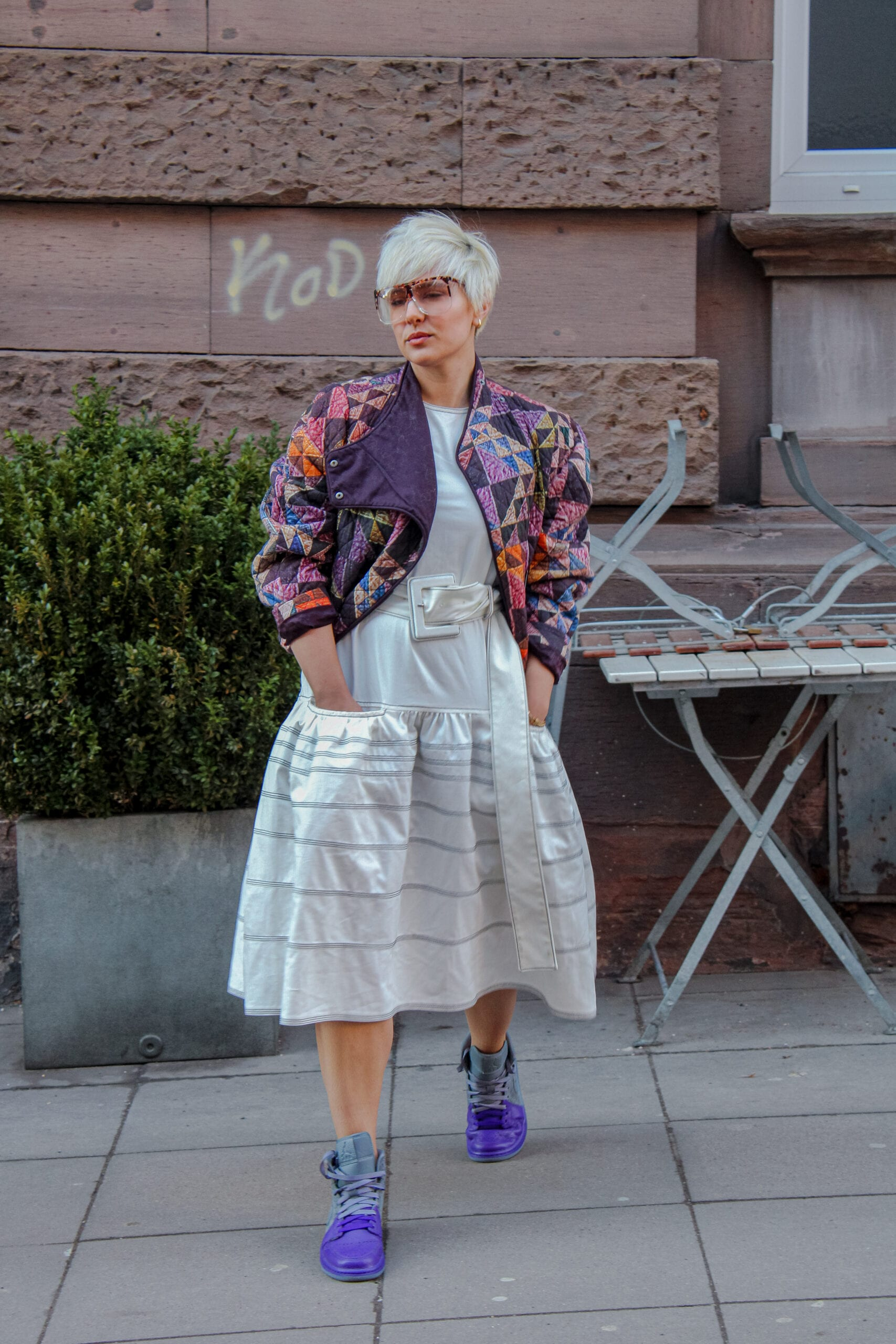 How to Wear Sneakers with Dresses- Sheila Rashid mid- RebeccaInEurope