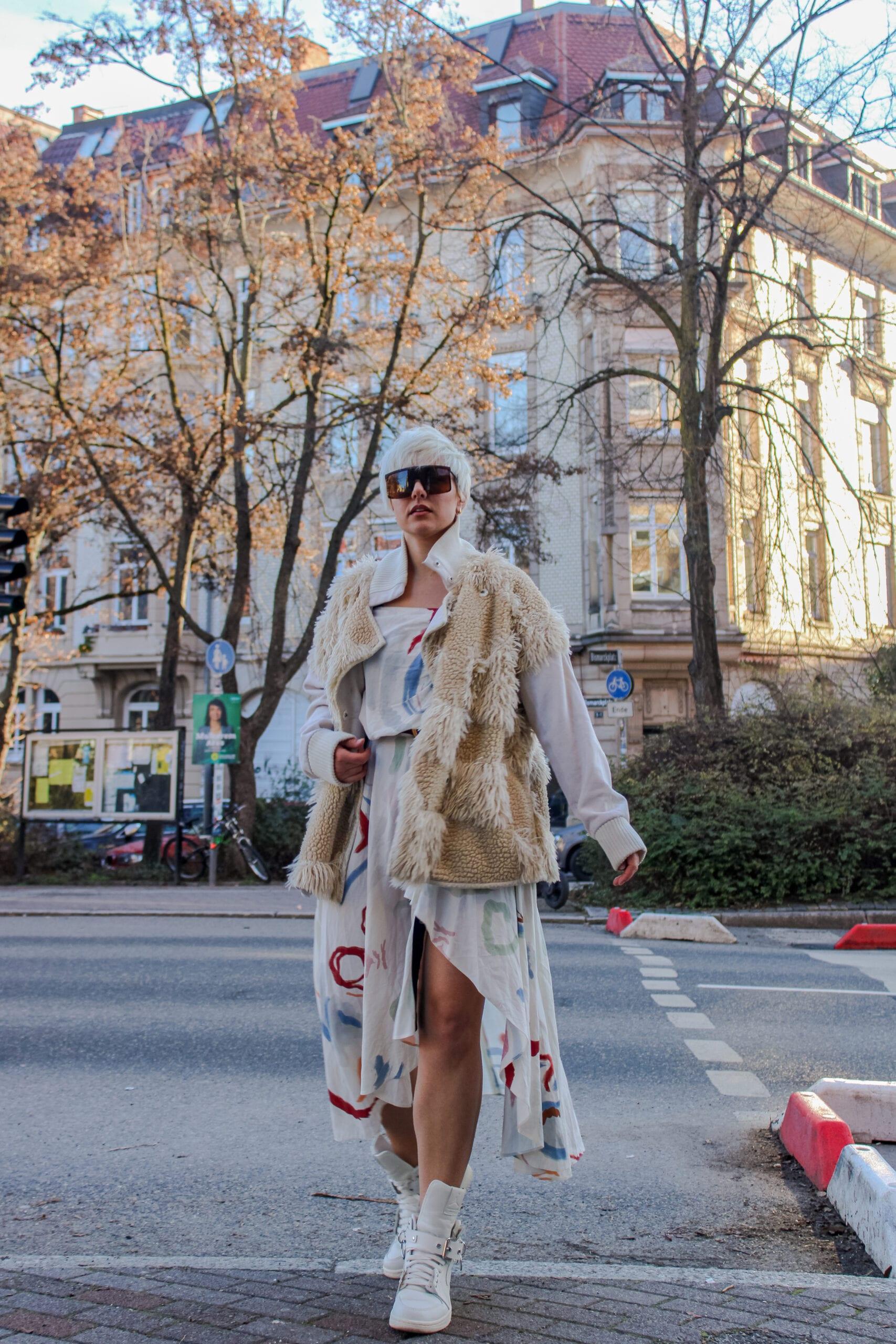Ways to Wear Jordan 1 Comme de Garcon White with dresses- Comme De Garcon Jordan 1's With DressesRebeccaIneurope